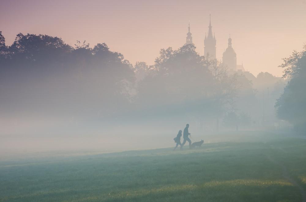 Blonia meadow, Krakow, Poland.