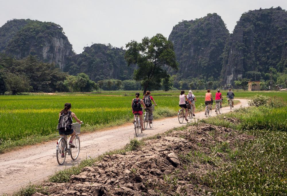 Ninh Binh by bike, Ninh Binh, Vietnam. thi/Shutterstock.com