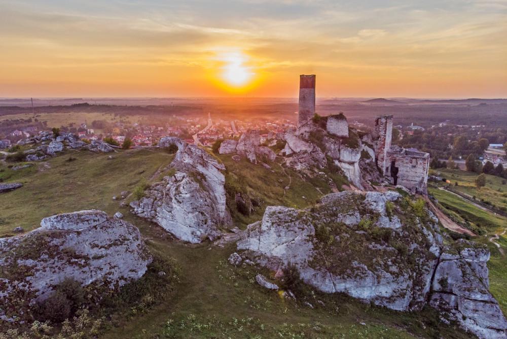 Castle Hill in Olsztyn. Poland.