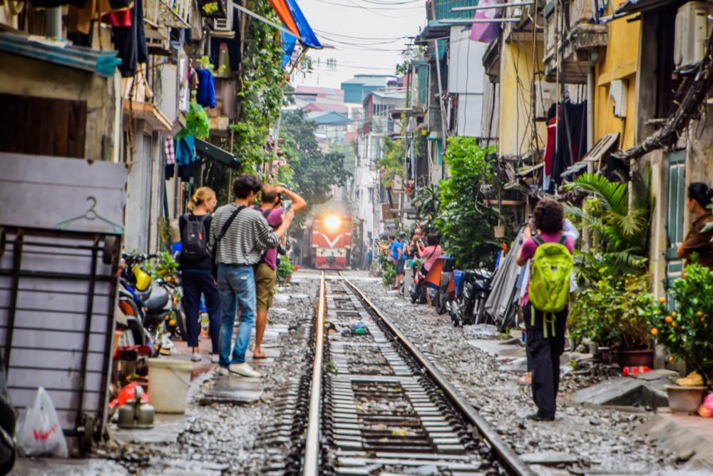 Hanoi Railway, Hanoi, Vietnam.