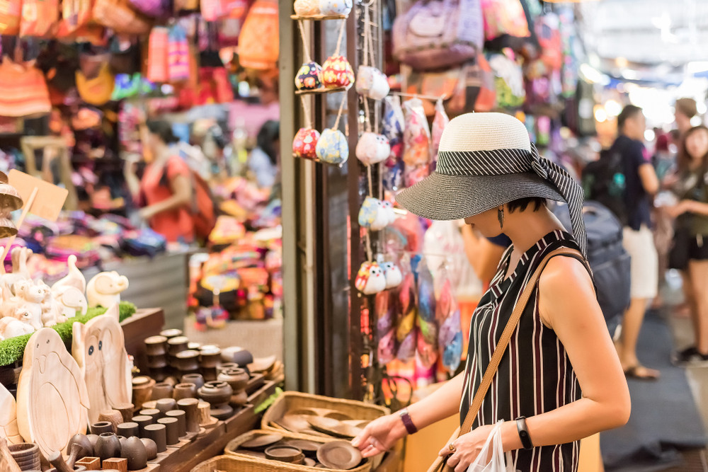 Chatuchak Weekend Market, Bangkok, Thailand.