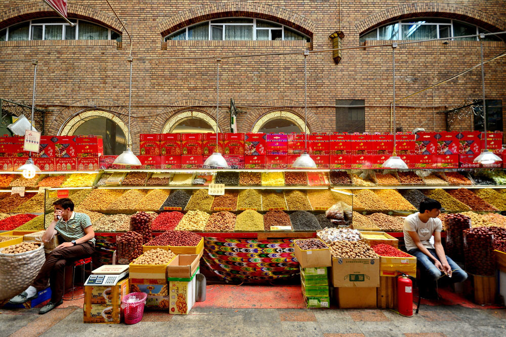 Market, Urumqi, China. Jarung H/Shutterstock.com