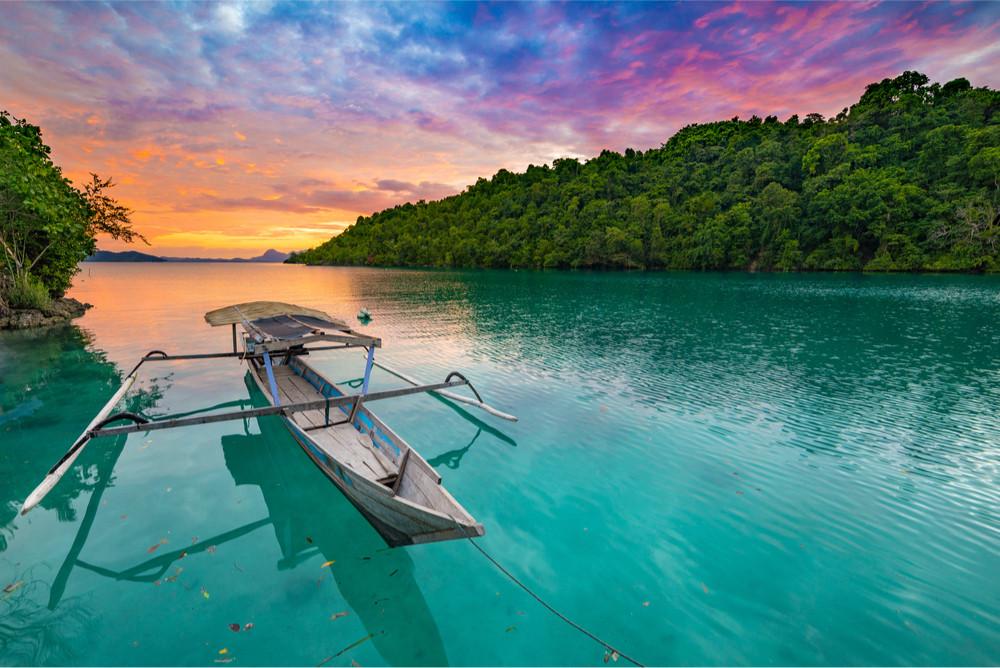 Sunset, Togean Islands, Sulawesi,Indonesia.
