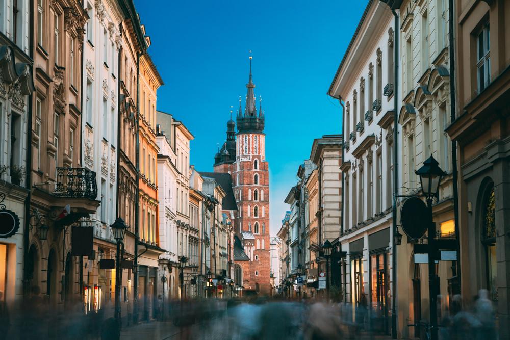 Florianska Street, Krakow, Poland.