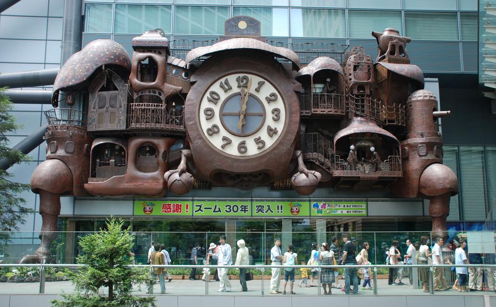 Giant Ghibli clock, Tokyo, Japan. bluehand/Shutterstock.com