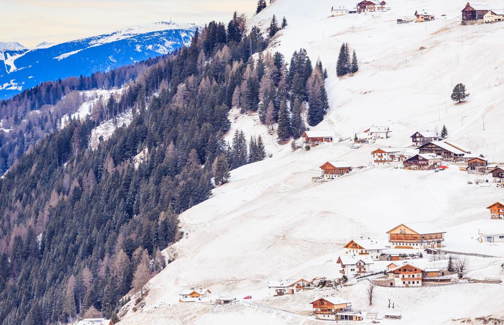 Ski Village in Selva di Val Gardena, Italy.
