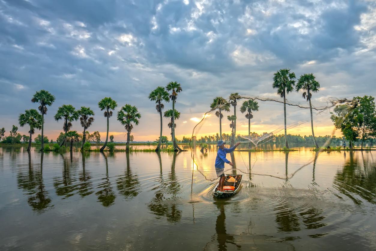 Mekong River, Southeast Asia.