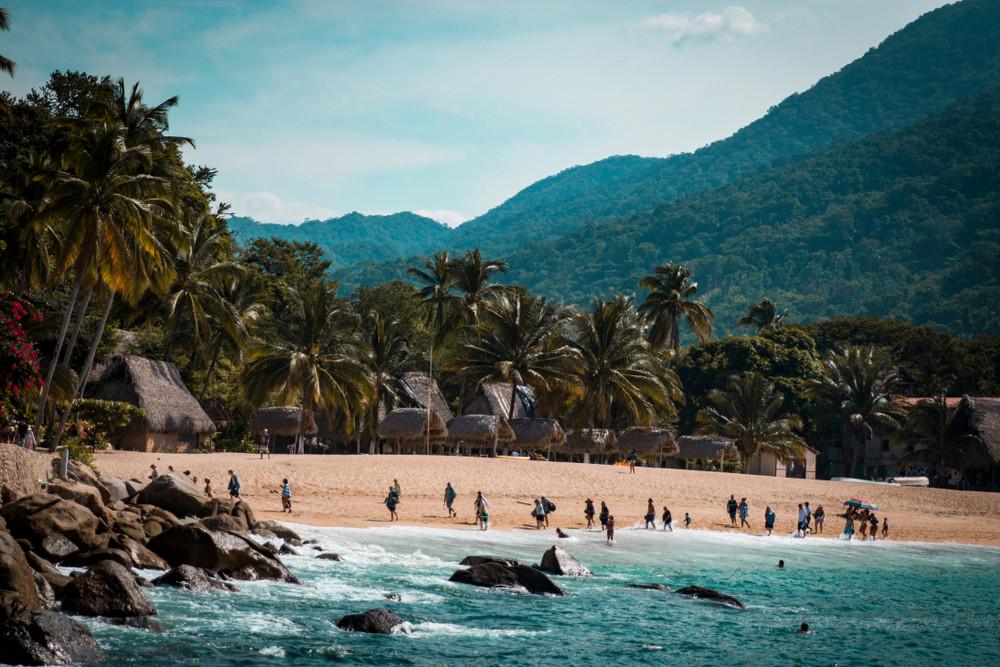 Beachside in Yelapa, Mexico.