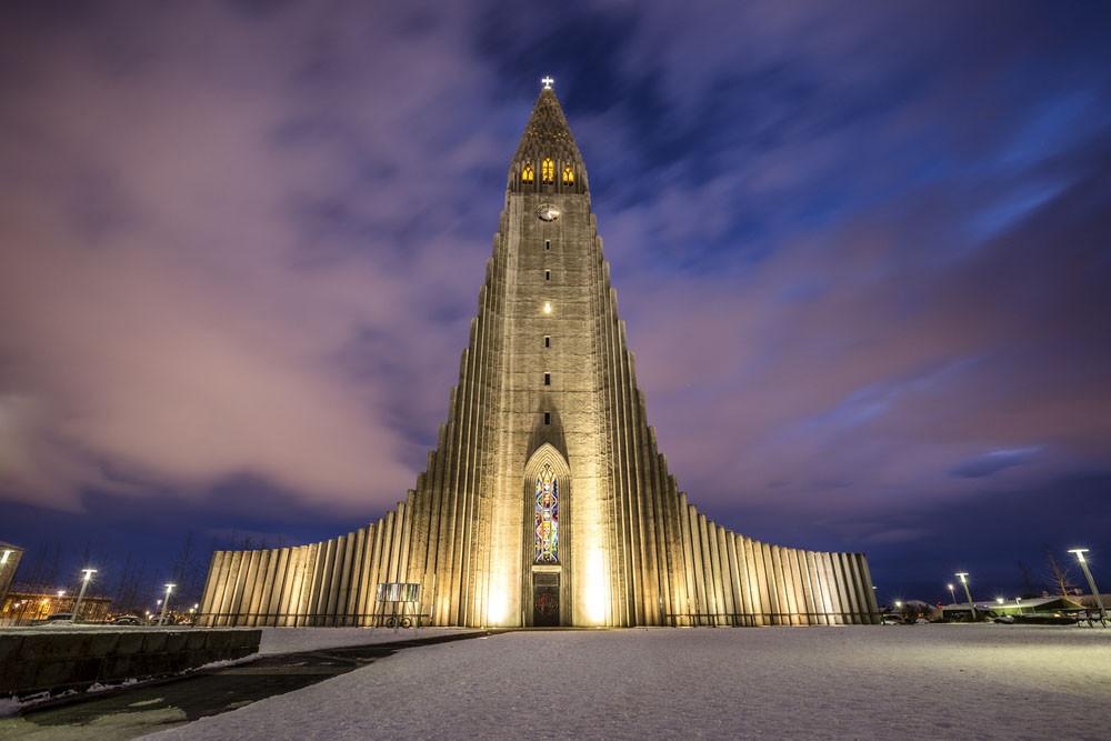 Hallgrimskirkja Luthern Church, Reykjavik, Iceland.