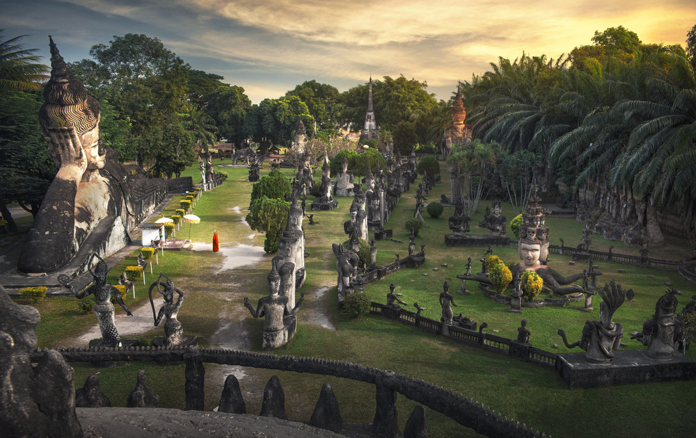 Wat Xieng Khuan Buddha park, Vientiane, Laos.