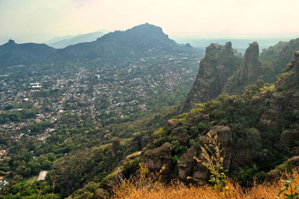 View from Tepozteco mountain, Tepoztlán, Mexico