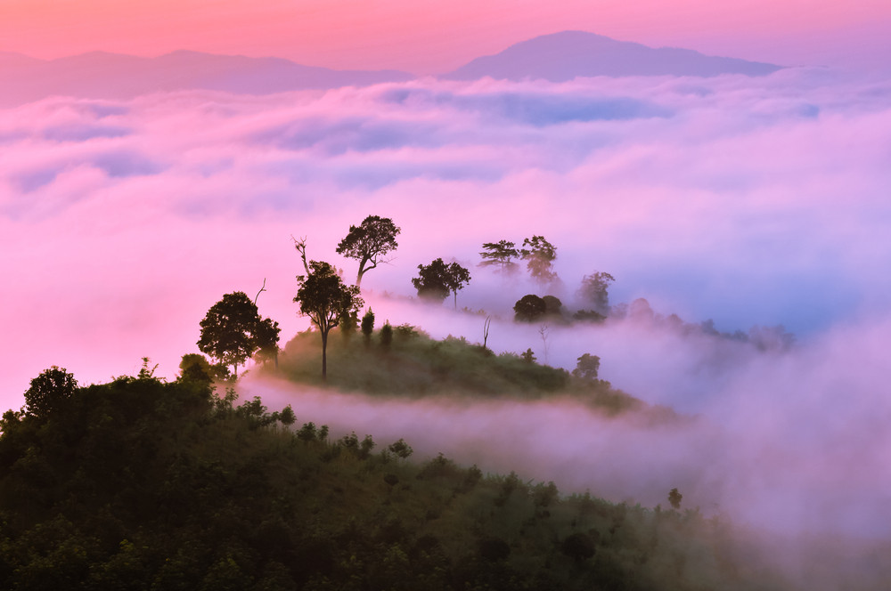 Sunrise at Yun Lai view point, Pai, Thailand.