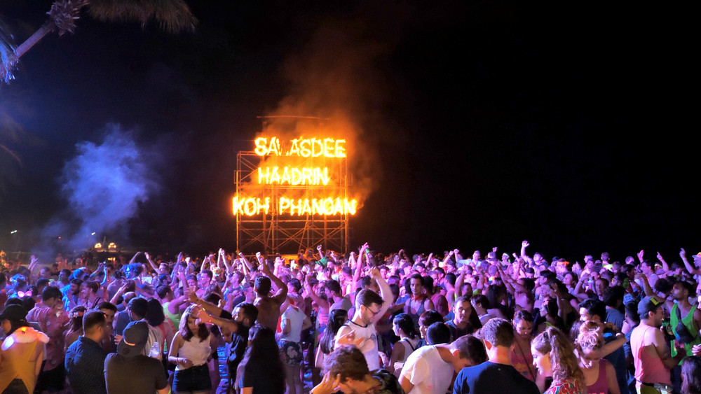 Full Moon Party, Koh Phangan, Thailand.  GlebSStock / Shutterstock.com