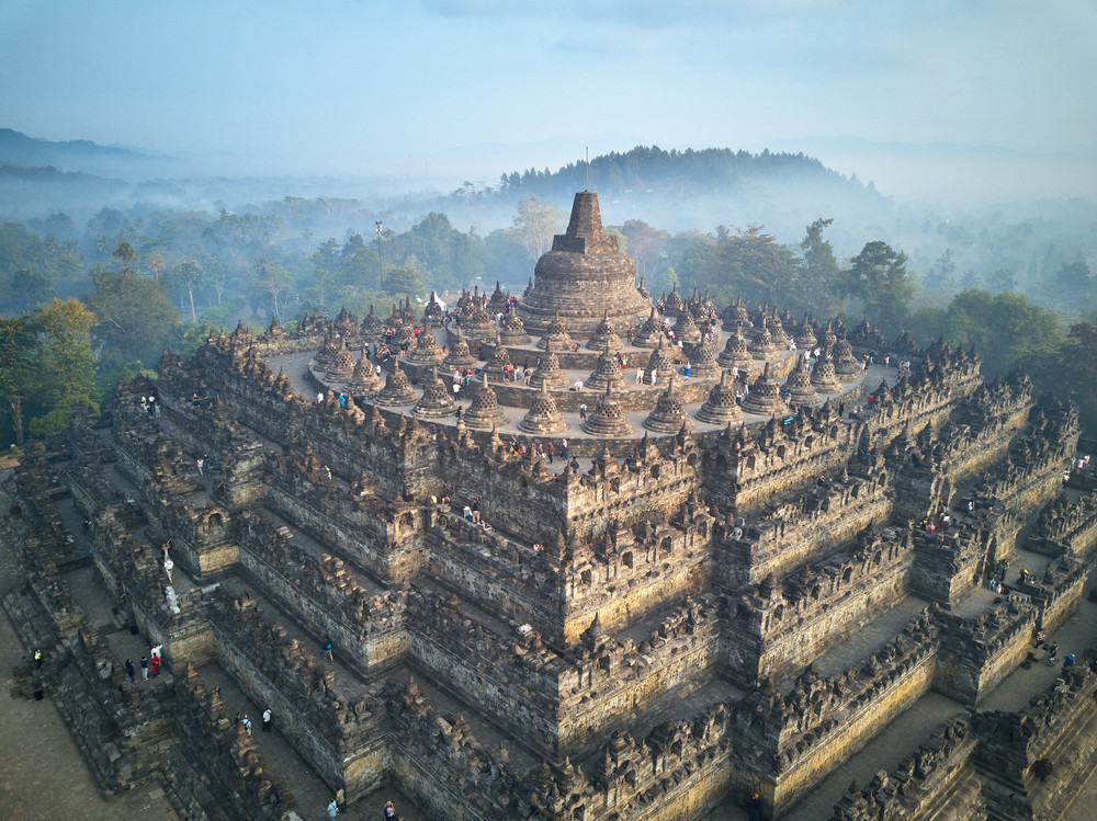 Borobudur Temple, Magelang Regency, Indonesia.