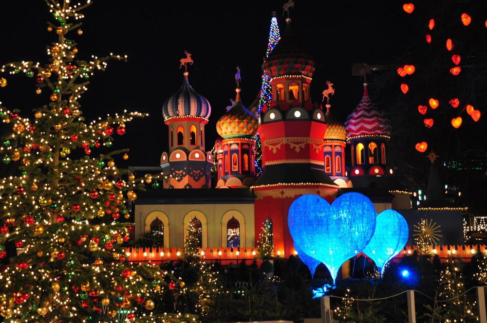 Christmas at Trivoli Gardens, Copenhagen, Denmark.