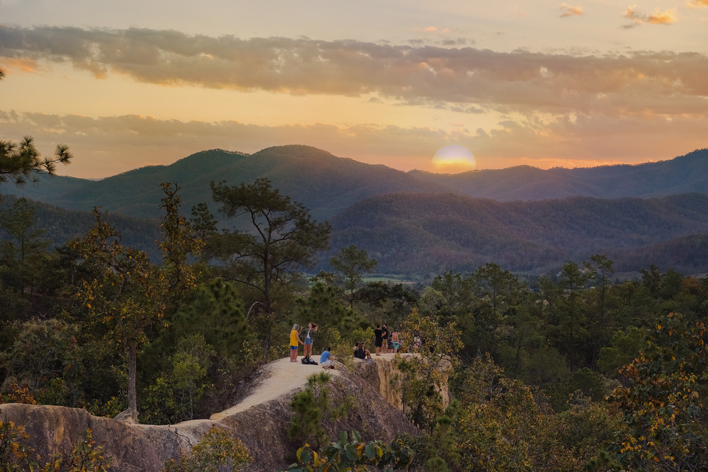 Pai Canyon, Pai, Thailand.