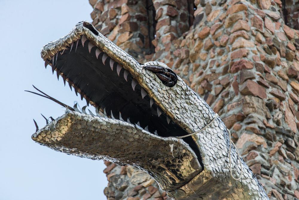 Sculpted dragon, Bishop Castle, Rye, Colorado.