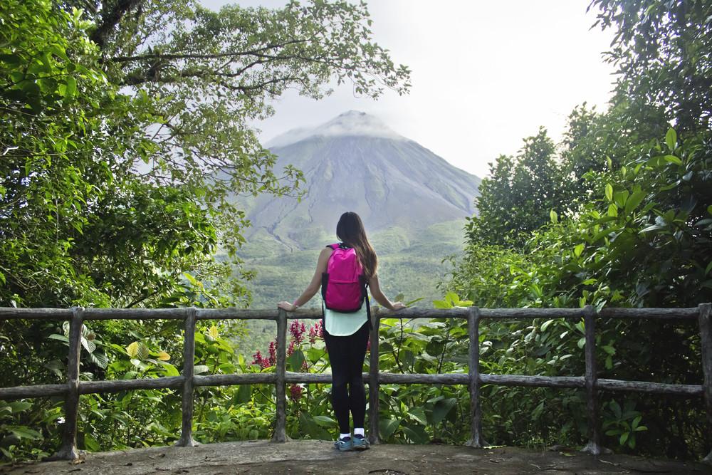 View of Arenal volcano, La Fortuna, Costa Rica.