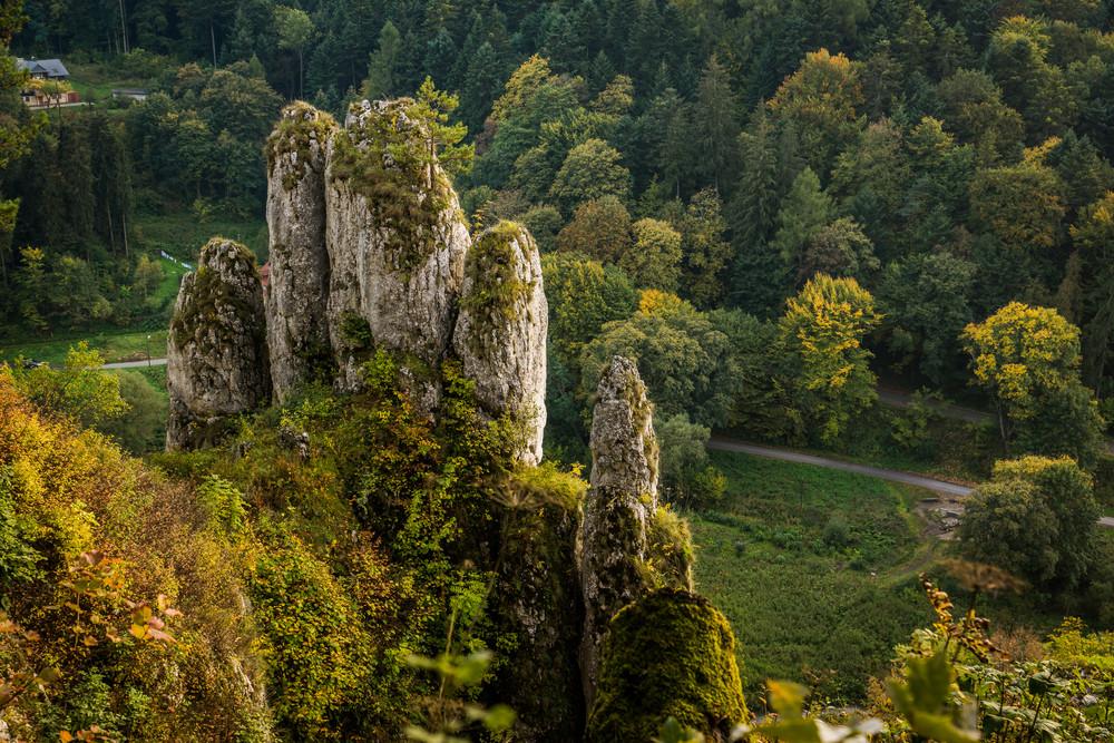 "Rock ""glove"", Ojcow National Park, Silesia, Poland."