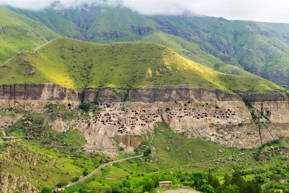Vardzia cave city, Erusheti Mountain, Vardzia, Georgia.