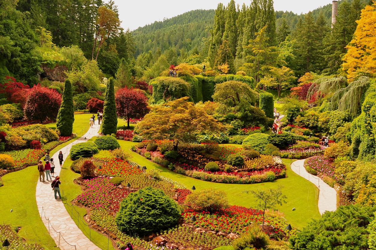 Butchart Gardens, Victoria, British Colombia, Canada.