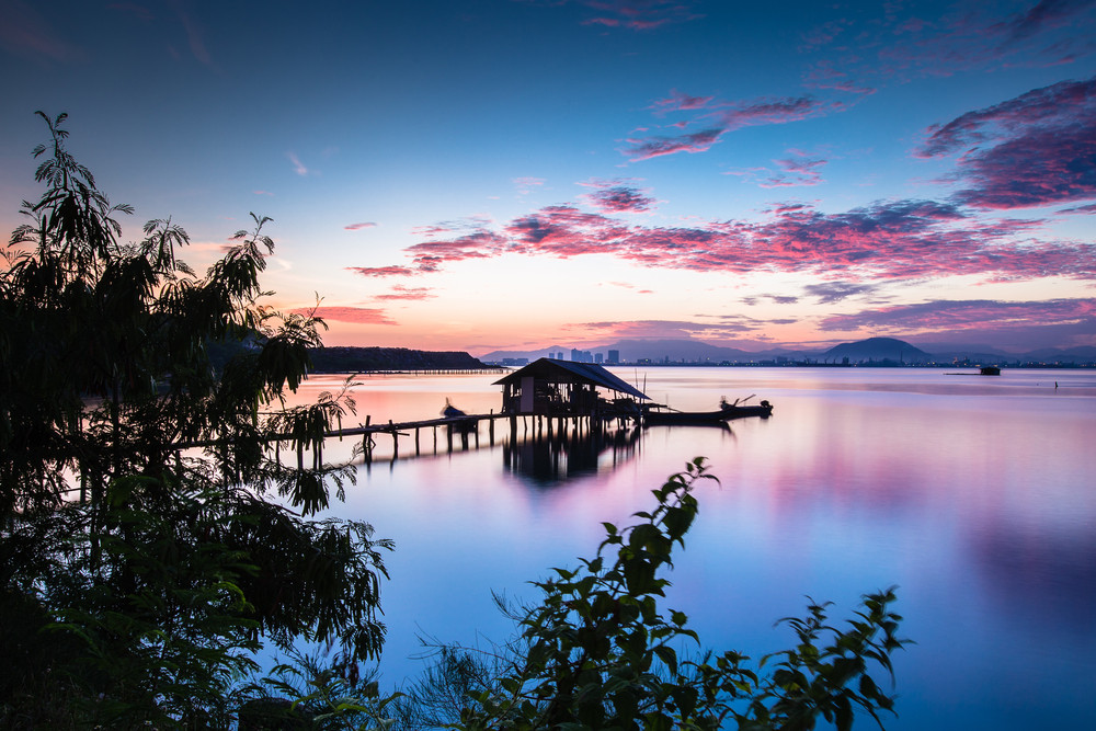 Penang jetties, George Town, Thailand.