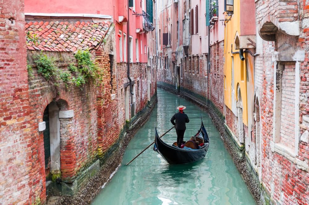 Gondola boat in Venice, Italy.