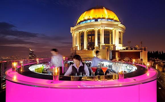 Sky Bar at the Lebua State Tower, Silom, Bangkok, Thailand. Credit: Lebua