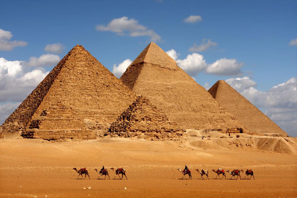 Pyramids Giza, Cairo, Egypt.