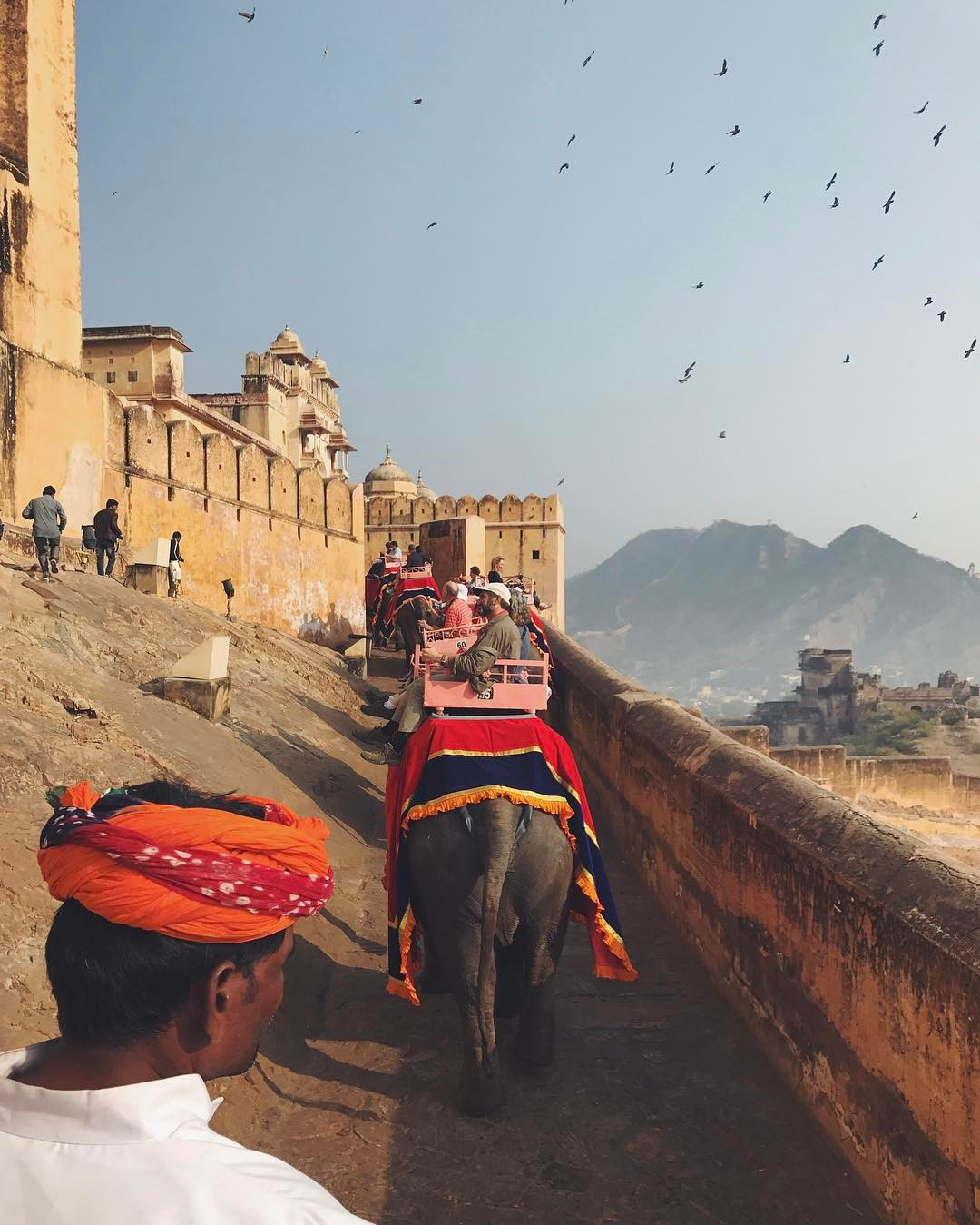 Path up to Amer Fort, Jaipur, India. instagram.com/marissapicc