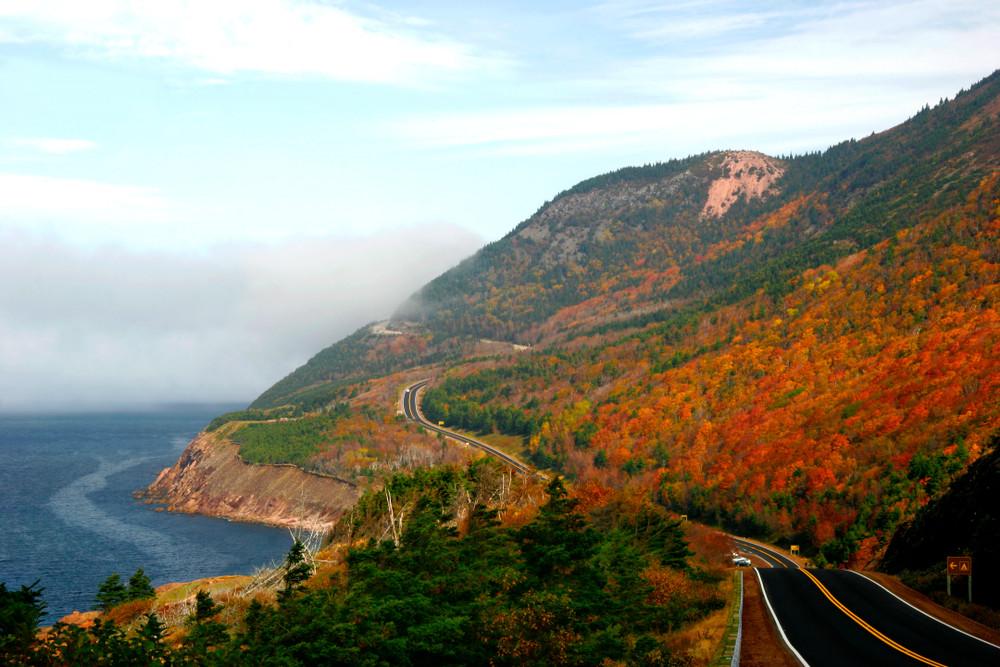 Cabot Trail, Cape Brenton Island, Nova Scotia, Canada.