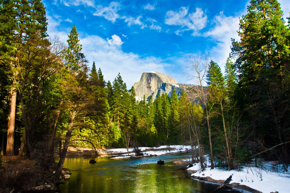 Half Dome Rock, Yosemite National Park, California.