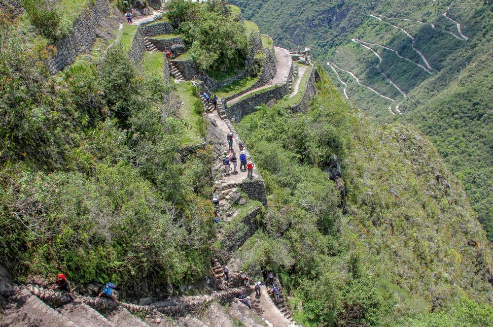 View from the climb, Huayna Picchu, Peru.