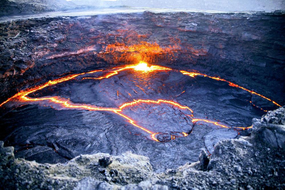 Erta Ale lava lake, Danakil Depression, Ethiopia.