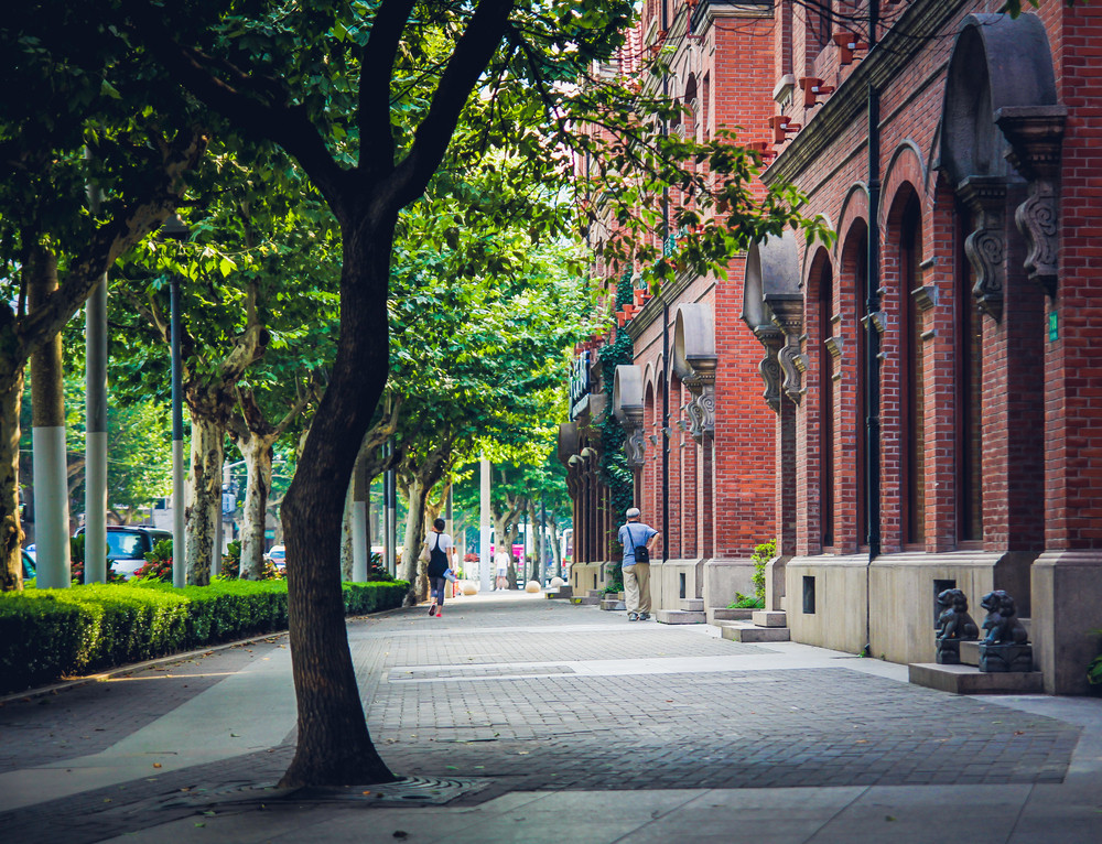 The French Concession district, Shanghai, China.