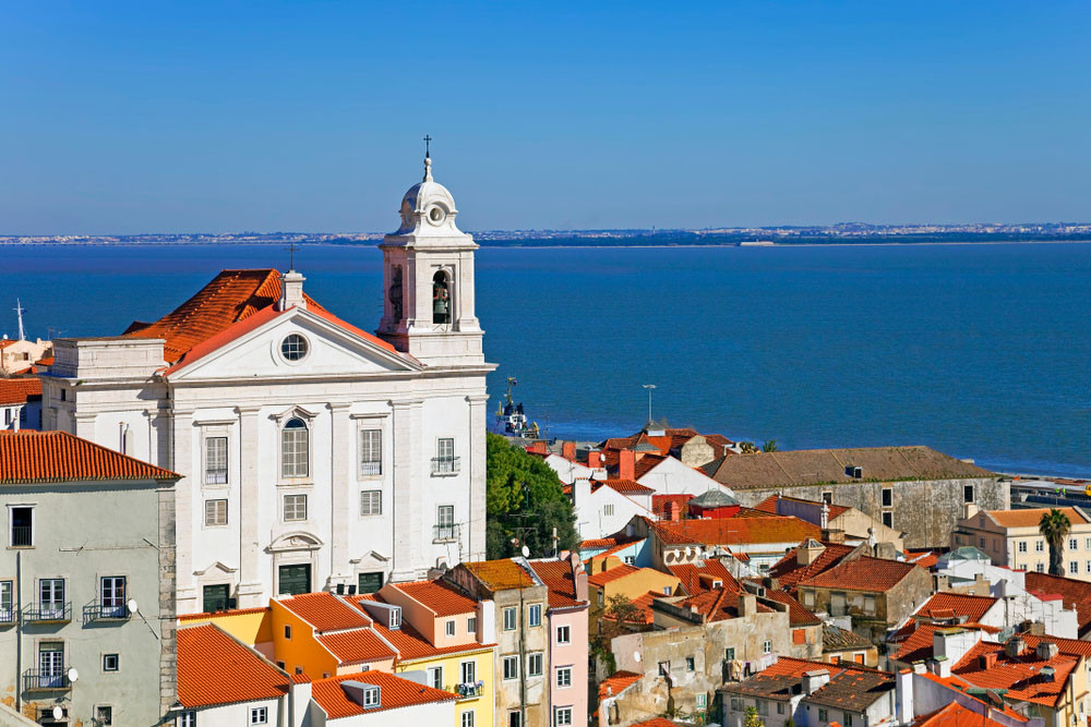View of the river Tagus, Lisbon, Portugal.