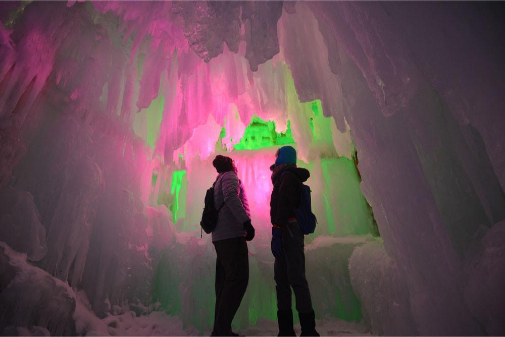 Ice cave at Sapporo Snow Festival, Sapporo, Hokkaido, Japan.