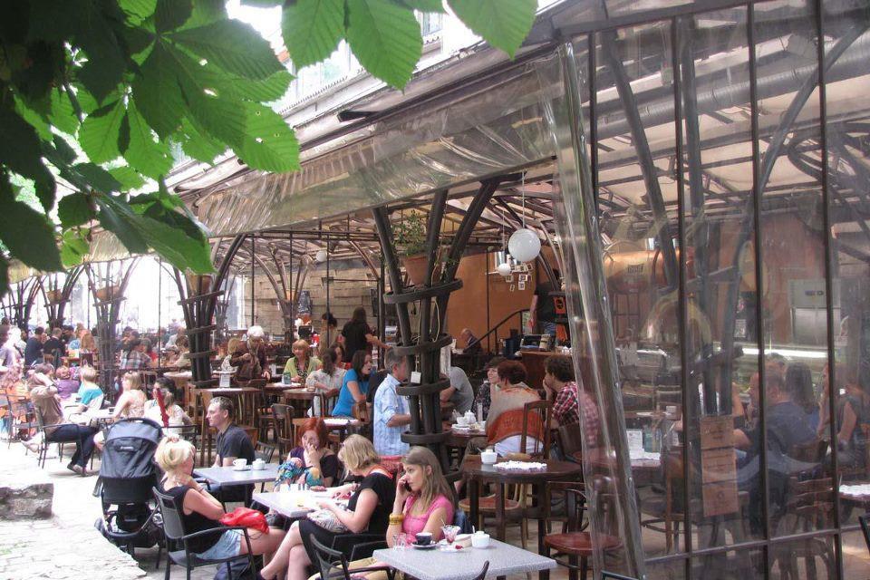 Bunkier Cafe in Plenty Park, Krakow, Poland. facebook.com/bunkiercafe/