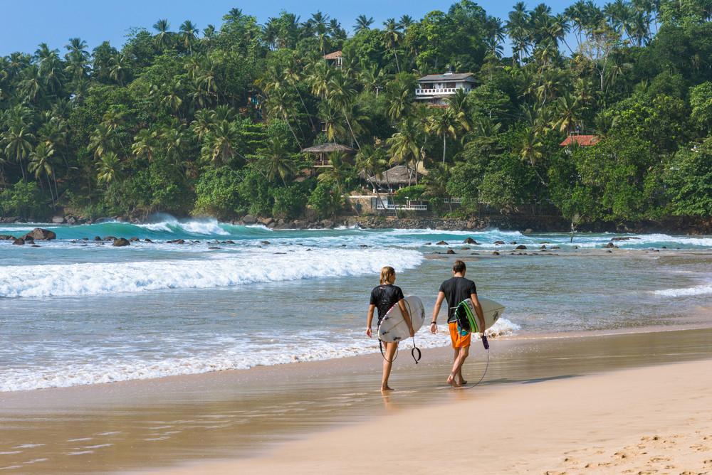 Bay of Mirissa, Sri Lanka.