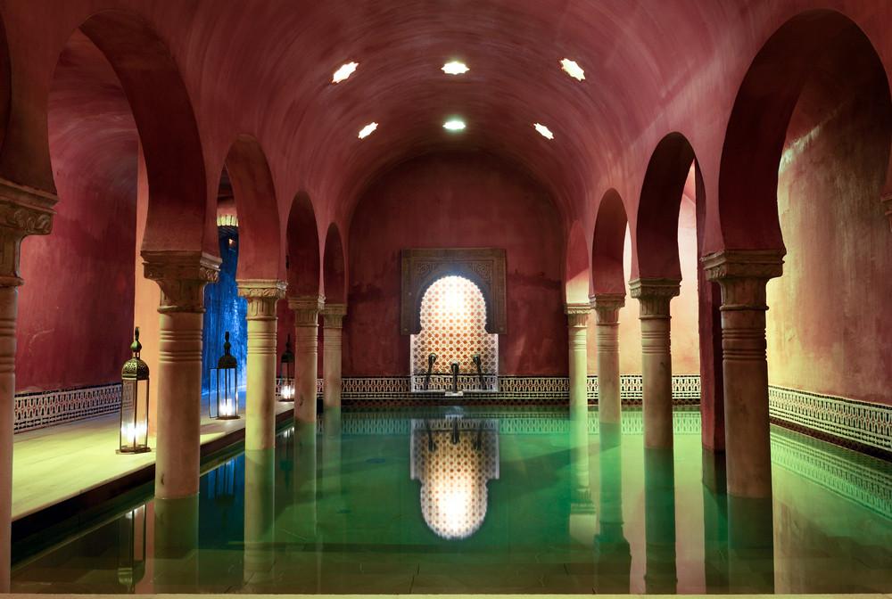 Arab bath in Andalusia, Spain.