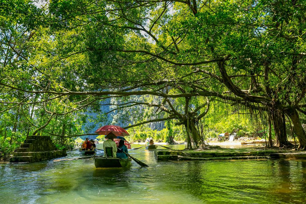 River cruise in Ninh Binh, Ninh Binh, Vietnam.
