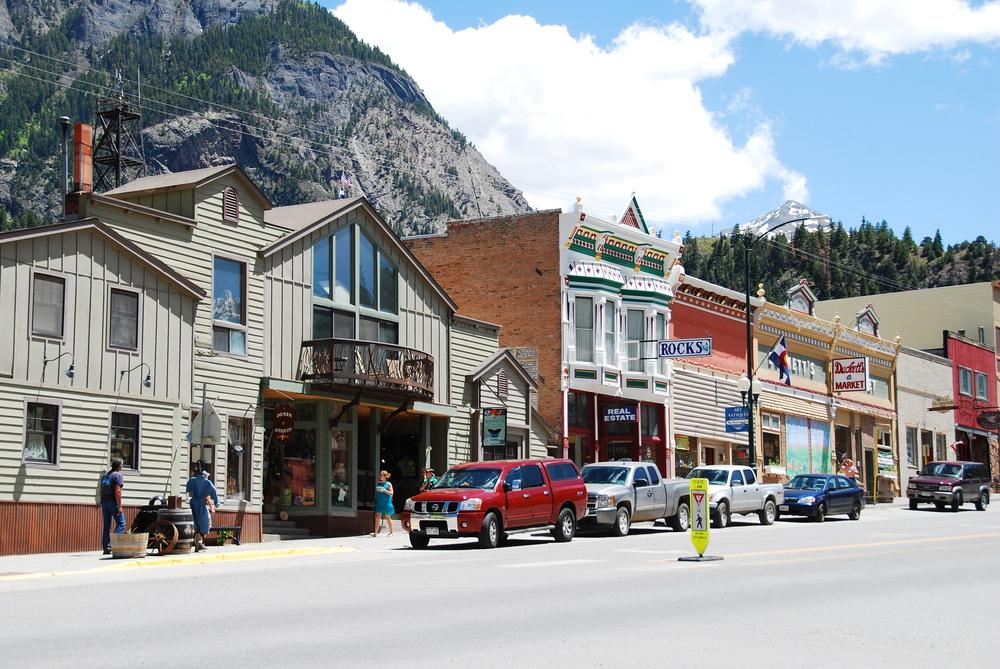 The town of Ouray, Colorado