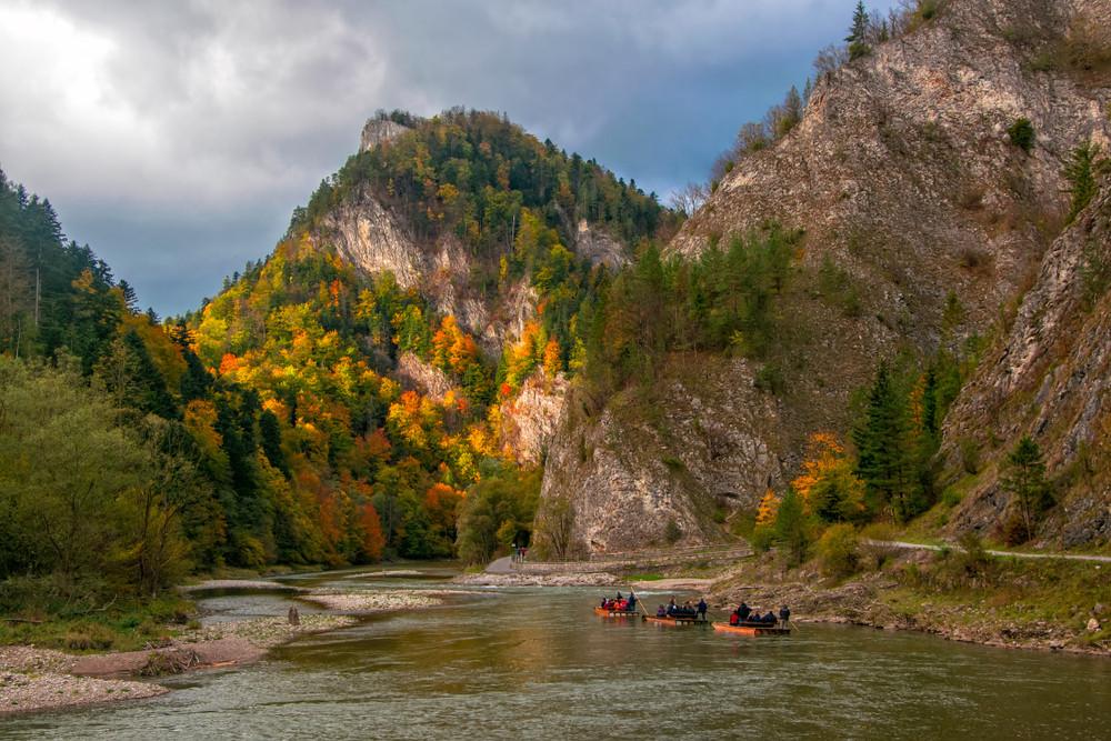 Dunajec River, Poland.
