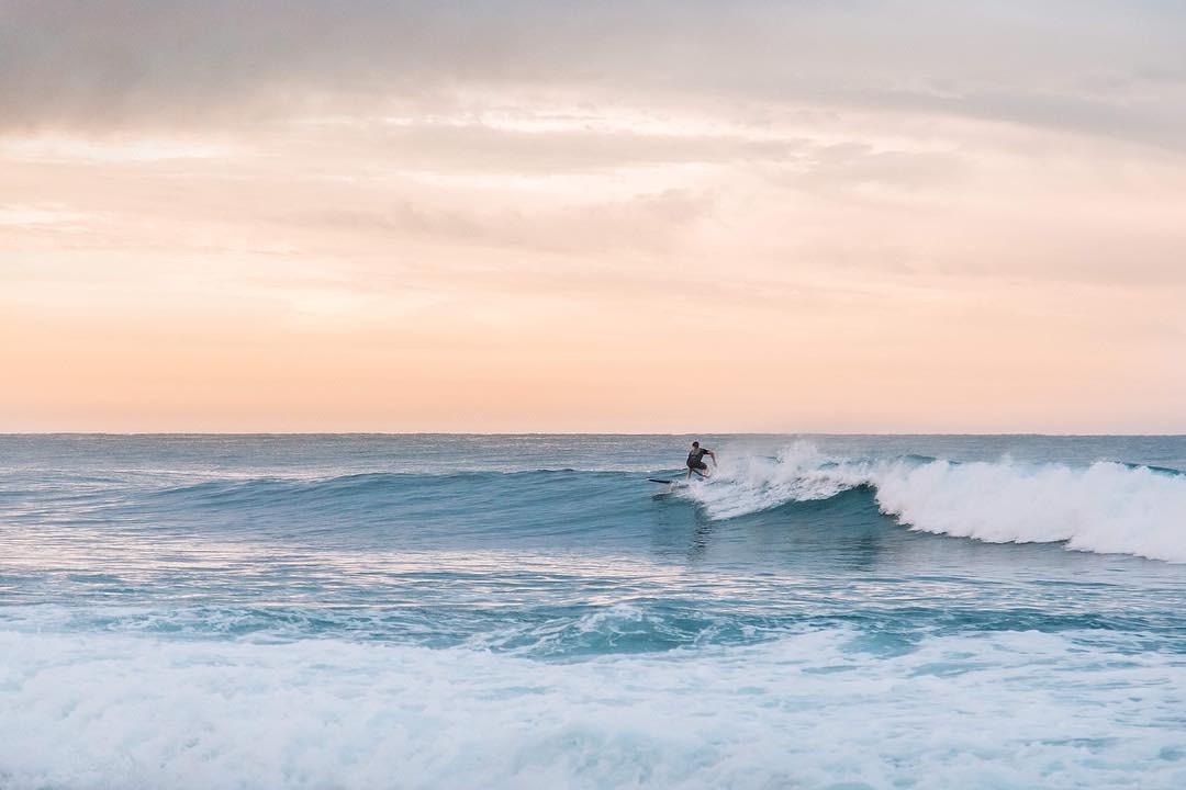 Twilight surf, Todos Santos, Mexico. instagram.com/ouradventurefam