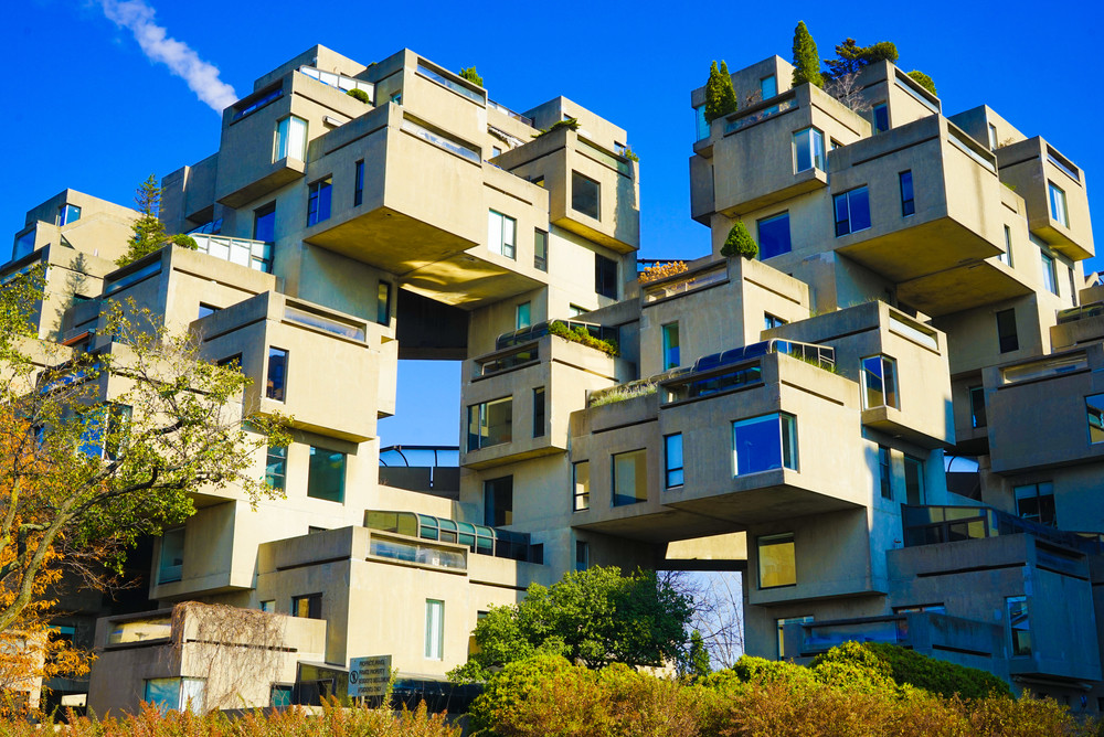 Habitat 67, Montréal, Quebec, Canada. Inspired By Maps/Shutterstock.com
