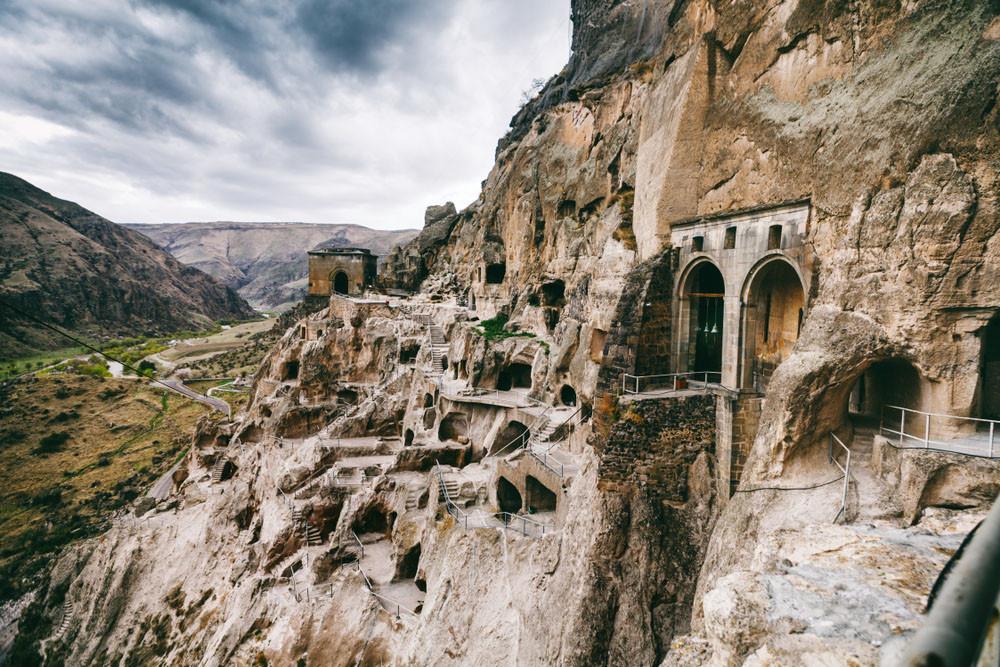 Vardzia cave city monastery complex, Vardzia, Georgia.