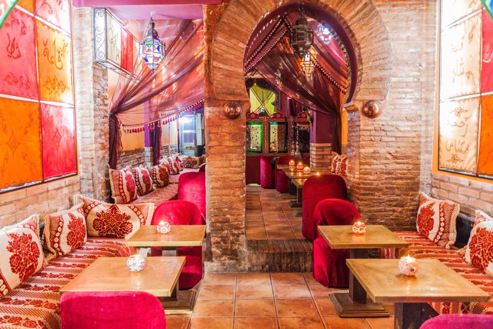 Teahouse in Granada, Granada, Spain. Matyas Rehak/Shutterstock.com