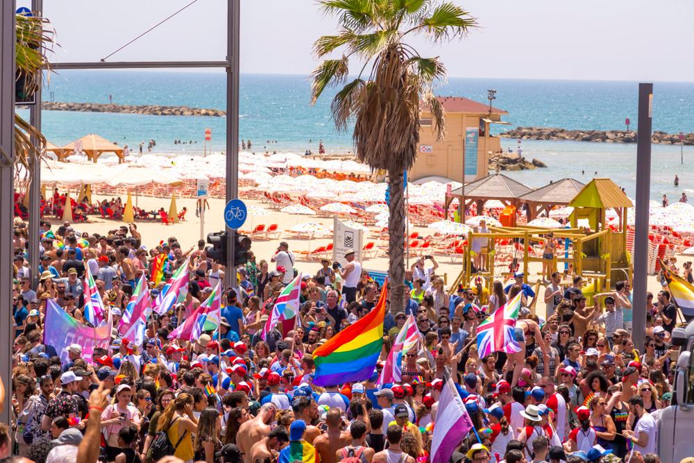 Tel Aviv Pride, Tel Aviv, Israel. ColorMaker/Shutterstock.com