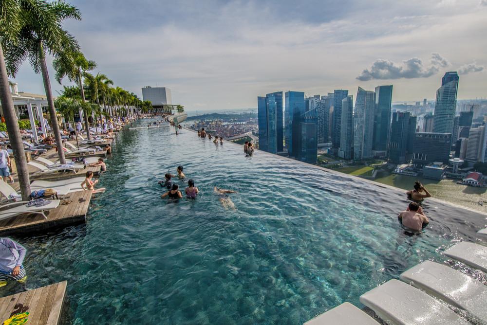 Pool at the Marina Bay Sands, Singapore. TILT-Photography-Shutterstock.com