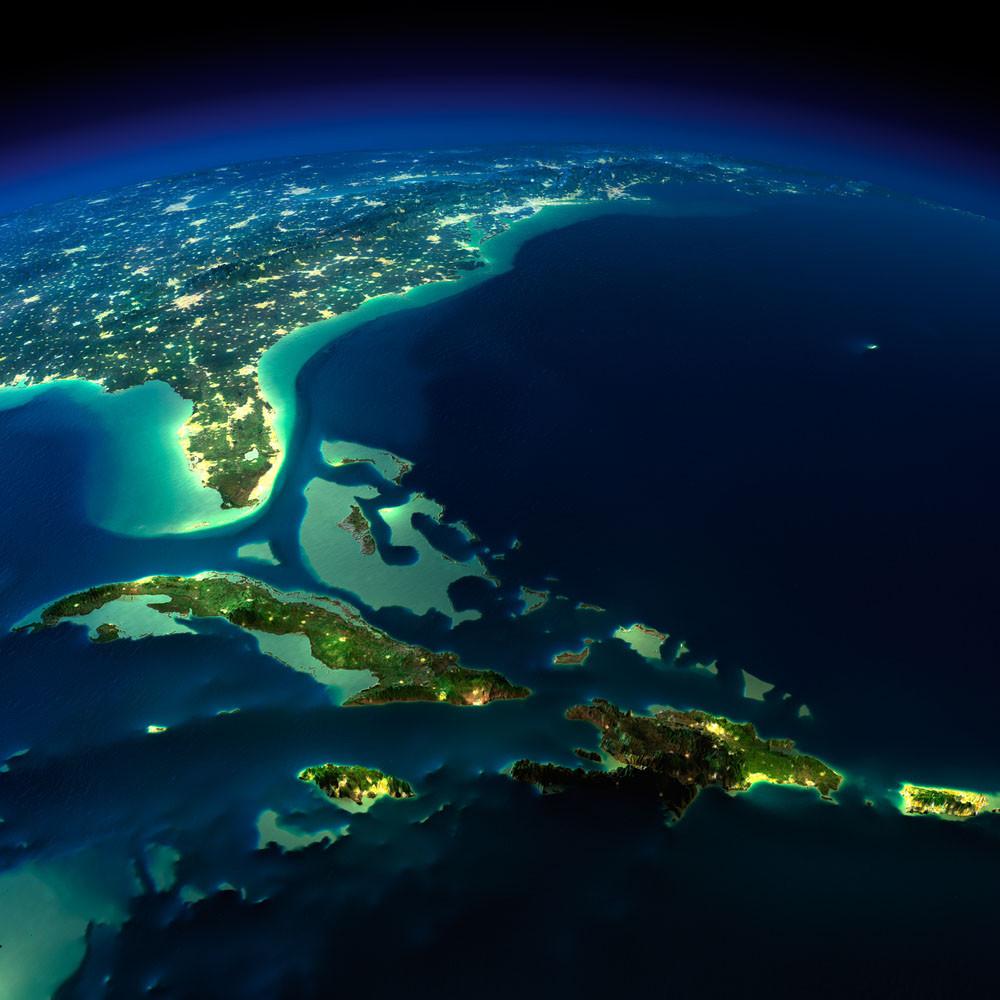 Bermuda Triangle area, North Atlantic Ocean.